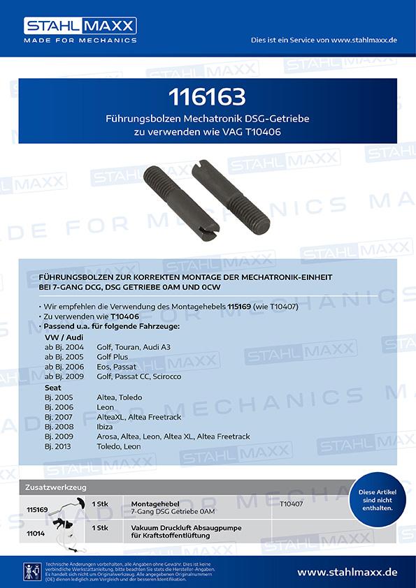 Führungsbolzen Mechatronik DSG-Getriebe zu verwenden wie VAG T10406