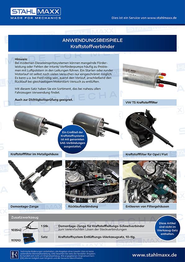 Anwendungsbeispiele Kraftstoffverbinder